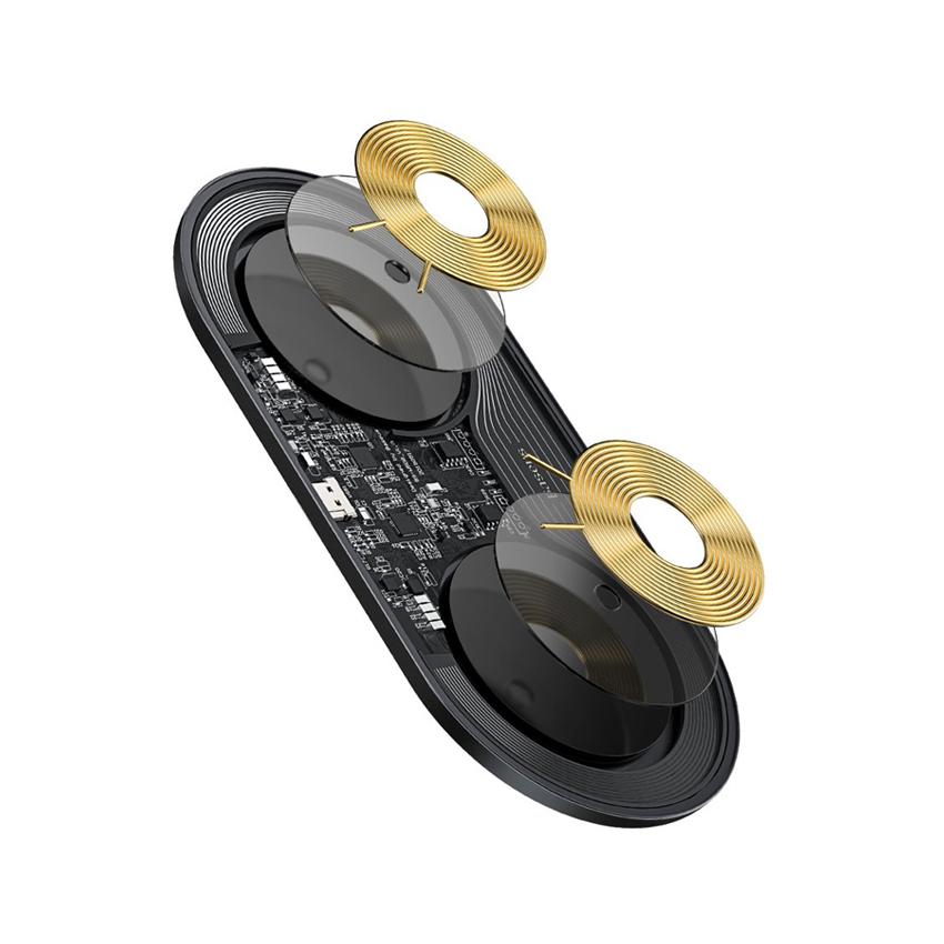 Беспроводное зарядное устройство Baseus Simple BS-W508 2 in 1 18W Black