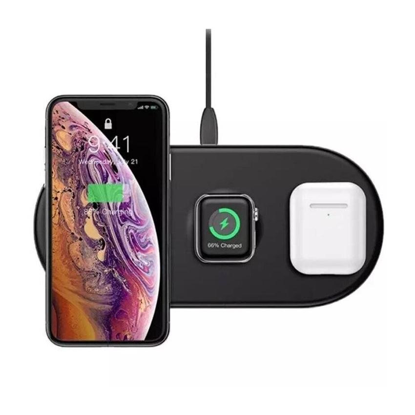 Беспроводное зарядное устройство Baseus Smart 3 in 1 Watch/iPhone/Airpods 18W Black