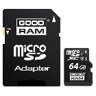 Карта памяти Goodram 64GB microSDXC Class 10 UHS-I + SD Adapter