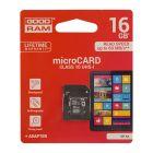 Карта памяти Goodram 16GB microSDHC Class 10 UHS-I + SD Adapter