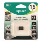 Карта памяти Apacer 16 GB microSDHC Class 10 UHS-I (без адаптера)
