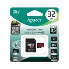 Карта памяти Apacer 32GB microSDHC Class 10 UHS-I 85R + SD Adapter
