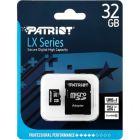 Карта памяти Patriot 32GB LX Series microSDHC Class 10 UHS-I + SD Adapter