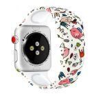 Ремешок для Apple Watch 42mm/44mm Silicone Watch Band White Birds
