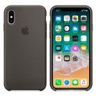 Чехол Soft Touch для Apple iPhone X Dark Olive